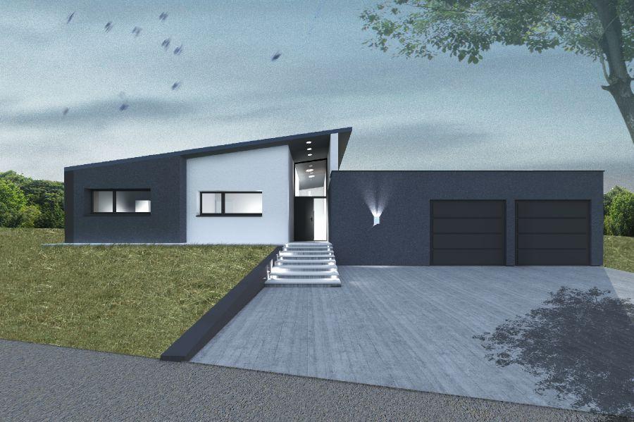 Mod le de maison maison demi niveau construire en - Modele de maison a construire ...