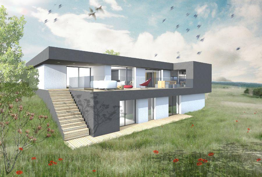 mod le de maison terrain en pente construire en lorraine r f 3536474. Black Bedroom Furniture Sets. Home Design Ideas
