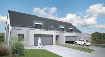 Nouvelle construction de 3 maisons Classe AAA à Nospelt, commune de Kehlen. Les maisons se trouveront au fond d'un cul de sac. Construction en futur achèvement. Les maisons sont en cours d'autorisation. L'aménagement peut être modifié selon vos désirs et possibilités technique  Prix de la maison et terrain 956.264 € tva 3%* * Primes étatiques 'House' pour maison AAA déduites (sous réserve de l'acceptation du ministère de l'environnement)    --- Quelques détails TECHNIQUES  --- - Maison passive AAA ave Isolation poussée - Ventilation contrôlée double flux - Pompe à chaleur air/eau réversible (refroidissant en été) - Châssis PVC Schüco Triple vitrage - Stores extérieurs à lamelles électriques - Chauffage au sol - Solaire Thermique   Ref agence :1722434