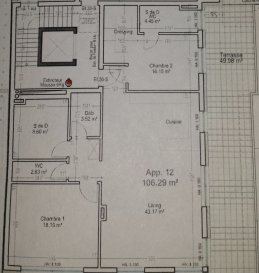Superbe Penthouse en construction, à vendre à Strassen, bénéficiant d'une magnifique terrasse de 50m2;  Le projet sera terminé Avril 2017.  Finitions hauts gamme.  Le prix inclut la TVA à 17%; Les finitions internes et la cave.  Le prix ne comprend pas le parking intérieur et la cuisine équipée.  Pour tous les renseignements concernant les plans, la construction et le cahier des charges, veuillez-vous adresser à l'agence.