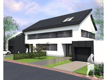 Nouveau projet avec la construction d'une maison jumelée de 180m2 sur un terrain de 3.82 ares à Canach dont une comprenant :   Au rez de chaussée, un hall d'entrée, un bureau (13m2), un débarras, une cuisine ouverte sur un salon, salle à manger de (38m2), une toilette séparée, une terrasse et un jardin.  Au premier étage, trois chambres (18m2, 12m2, 11.89m2) dont une « Master room avec dressing, salle de bain et accès balcon», une seconde salle de bain avec toilette, une buanderie et une chaufferie.   Les combles (39M2) sont aménageables.   Classe énergétique AB.  (triple vitrage, chauffage au sol, pompe à chaleur). Prix indiqué Hors Taxe.