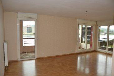 Dans résidence de standing. Dans résidence de standing, en bordure de Moselle, appartement de type F3 de 79.72 m² avec loggia de 11.61 m². Garage 1 VL. Secteur privilégié, à 5 mns à pied du centre ville.