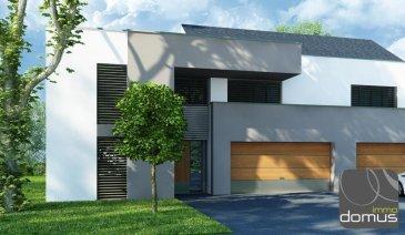 SENNINGERBERG, à moins de 10 minutes de la Capitale et des Communautés Européennes, prochainement en construction 4 maisons jumelées unifamiliales à basse énergie, finition \