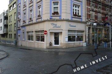 Le fameux Restaurant Chez Abdel de Esch, dans la rue du Moulin, au plein Centre -ville, a fermé ses portes après 25 ans de service, cuisine française et tunisienne, ils recherchent donc un repreneur sérieux et ont mis leurs local en location. Le Fond de commerce sera vendu à 80 000 € (cuisine professionnel, tables, chaises, nappes, vaisselles, appareils électroménagers, etc. le tout dans un état de marche, soigné et propre). Le Rez-de-chaussée,  et la partie du sous-sol seront mis en location à 2800 € + 200 charges de chauffage, une garantie locative de 3 mois est à payer. Le Restaurant se compose comme suit: Rez-de-chaussée env. 90 m2 comprenant la salle de Restaurant et la cuisine. Au sous-sol: Les toilettes publiques pour les clients, la salle des frigos et de la mise en place, la cave à vin et la réserve,  la buanderie et le vestiaire, donc une surface utile de 157 m2. Le Restaurant pourra accueillir jusqu'à 55 personnes (couverts). Si vous êtes intéressé pour une visite ou avais besoin de plus de renseignements, contacter l'agence.  Ref agence :HI-1360
