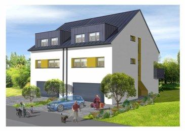 AGI Immobilière vous propose 1 nouvelle maison , libre de trois côtés, sur un terrain de +-2,75 ares, moderne et d'un haut standing, à DUDELANGE, dans une rue calme et quartier sympa, DUDELANGE-BURANGE.  La maison offre un espace de vie pratique au quotidien, composée d'un grand espace lumineux, et est conçue pour le bien-être et le confort familial, elle est composée comme suite:  - Au rez-de-chaussée, un grand Garage pour stationner 2 voitures une à cote de l'autre, un WC sépare, un grand vestiaire et une pièce bureau/Hobby, accès sur le jardin.  - Aux 1 étage, grand salon/salle à manger avec cuisine ouverte avec un accès sur la terrasse, un petit débarras et une seconde pièce laquelle pourra servir de débarras ou buanderie et un WC indépendant.  - Aux 2 étage, l'espace nuit est composé de 4 grandes chambres dont 1 suite parentale, de deux salles de bains ou salle de douche avec un WC.  - A l'extérieure, cette maison, libre de 3 côtés, dispose d'un beau jardin privatif et dispose également de deux emplacements extérieurs privatif.  Une maison pensée pour votre bien-être Classe énergétique A B Application directe du taux de 3% Frais d'actes de vente applicable sur le prix du terrain
