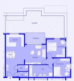 ** APPARTEMENT B.1.3 ** A vendre dans la Résidence Melchior, dans un environnement très verdoyant et calme près du Parc de la Pétrusse, un appartement aux finitions soignées, avec une jolie terrasse de 8,16 m2 et un jardin sur toit de 48,49 m2.      Ce bien se compose d'un spacieux hall d'entrée, d'une salle à manger avec cuisine ouverte, d'un living/salle donnant accès à la terrasse, de deux chambres à coucher, d'une grande salle de bains (double-lavabo, baignoire, douche, WC), d'un WC séparé et d'un pratique débarras.   Il dispose d'une cave privative et d'un emplacement machine à laver/séchoir dans la buanderie commune. Un emplacement voiture intérieur est disponible en supplément.   L'immeuble fait partie d'un ensemble harmonieux de trois nouvelles résidences et il est en classe énergétique A-B.  Il vous donnera un haut confort de vie grâce à ses triples vitrages, au chauffage au sol et à son riche cahier de charges.  Le prix affiché s'entend avec le taux de TVA super-réduit de 3% (en cas d'affectation du bien à des fins d'habitation principale) sous réserve d'acceptation du dossier par l'Administration de l'Enregistrement et des Domaines.  D'autres biens sur www.venice-consulting.lu  Ref agence :2172686