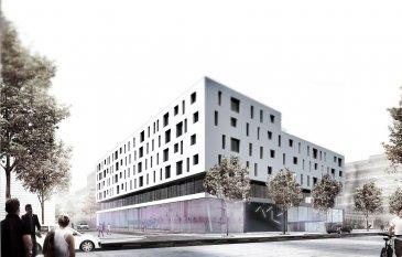 LES TRAVAUX REALISES A PLUS DE 50 % !! A visiter sur place !   Dans le quartier du Square Mile, nouvelle réalisation d'un immeuble  mixte appelé