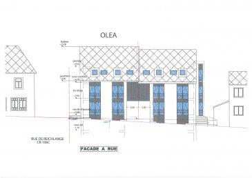 Nouveau projet de construction de deux résidences à 3 unités chacune à Niederpallen.  Chaque résidence comprend un appartement au rez-de-chaussée avec grande terrasse et jardin privé (3 chambres) et deux duplex (2 chambres) au niveau 1 et comble, plus un grenier.  Le sous-sol comprend les locaux techniques, emplacements voitures, caves, locale poubelles, place vélos et poussettes.  Appartement 1: - hall d'entrée - 3 chambres à coucher - wc séparé - salle de douche - grand séjour / salle à manger avec coin cuisine, sortie sur grande terrasse de 56,75m² et jardin - cave.  Emplacement intérieur: 20 000€  Emplacement extérieur: 10 000€  Tva 3% inclus
