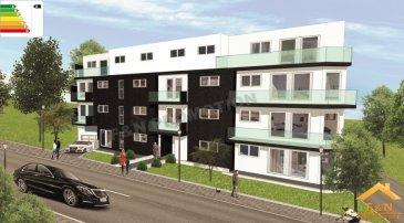 Nouveau projet immobilier idéalement situé à quelques minutes du centre-ville d'Esch-sur-Alzette et de Belval.  La résidence « AISHA » sera érigée dans un quartier verdoyant et très apprécié de TETANGE (commune de KAYL)  Ce projet comporte 17 appartements et 4 penthouses d'une surface de 52m2 à 96m2, disposant d'une à trois chambre(s) de bonne exposition, et répartis sur 5 niveaux avec ascenseurs.  Pensés avec le plus grand soin, ces logements disposeront en outre d'une belle terrasse/balcon qui vous assurera une vue agréable, d'une cave privative, d'une buanderie et d'un emplacement de parking intérieur avec possibilité d'opter pour un garage fermé.  Proche de toutes les commodités (commerces en tout genre, écoles, restaurants, banques, P&T, etc.) et offrant un accès rapide aux transports publics et au réseau autoroutier, la résidence «AISHA » saura répondre à toutes vos attentes (5 min. d'Esch-sur-Alzette, 10 min. de Belval et 15 min. de Luxembourg-ville).  Dans un souci constant de réduire notre empreinte écologique en améliorant l'habitat, la résidence « AISHA » bénéficiera d'un passeport énergétique A-A-A (résidence à basse consommation). Les systèmes de chauffage, la ventilation mécanique contrôlée double flux, panneau solaire, les triples vitrages ainsi que l'isolation extérieure du bâtiment vous offriront un confort sans égal.  Le choix de matériaux de haut standing et de haute qualité, confère à cet ensemble, une esthétique architecturale moderne et soignée se fondant harmonieusement dans l'environnement.  Véritable produit de qualité, alliant confort, convivialité et bien-être aux techniques modernes de construction, la résidence « AISHA » constitue incontestablement une valeur sûre d'investissement ou d'habitation.  Emplacement intérieur privatif à partir de: 25 000 €  Le prix s'entend à 3% TVA (sous réserve d'acceptation par l'Administration de l'Enregistrement). Garantie d'achèvement Bil Banque.  N'attendez plus, réservez dès à présent votre appartement