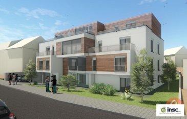 Nouvelle construction   PRIX TTC 3% Résidence Lucie an Hary sise à Lamadelaine   Appartement RDCH de 49.4 m2   hall d'entrée - cuisine ouverte - living - 1 chambre à coucher - salle de douche - terrasse 30.7 m2 - cave   Possibilité d'acheter un emplacement pour le prix de 30.000.-€  Ref agence :1212729