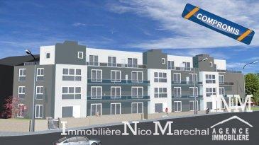 Très bel appartement neuf (Lot 053) d'une surface habitable de +/- 71 m2 (Ecopass: BC) prochainement en construction dans une splendide résidence style contemporain de haut de standing à 20 unités avec plusieurs ascenseurs offrant au: 1er étage: grand hall d'entrée, wc séparé, cuisine non équipée ouverte sur grand séjour/ salle à manger lumineux (de +/- 35 m2) donnant accès à un balcon (de +/- 5 m2), débarras séparé, 2 chambres à coucher spacieuses (de +/- 13 m2), salle de douche (de +/- 6 m2); Sous-sol: cave privative, buanderie commune, chaufferie. ATOUT SUPPLEMENTAIRE: 1 emplacement intérieur compris dans le prix de vente. Situation intéressante, à 5 minutes du Centre d'Esch/Alzette. Esch-sur-Alzette se trouve à 15 minutes de Luxembourg-Ville à proximités de toutes les commodités (commerces, écoles, banques, hôpital, accès autoroutier, transports publics etc).  Finitions haut de gamme. GARANTIE DECENNALE. Le prix affiché s'entend HTVA sur la part constructions à réaliser. Ref agence :882167
