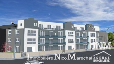 Très bel appartement neuf (Lot 061) d'une surface habitable de +/- 93 m2 (Ecopass: BC) prochainement en construction dans une splendide résidence style contemporain de haut de standing à 20 unités avec plusieurs ascenseurs offrant au: 2e étage: hall d'entrée, wc séparé, cuisine non équipée ouverte sur grand séjour/ salle à manger lumineux (de +/- 45 m2) donnant accès à un balcon (de +/- 5 m2), débarras séparé, 2 chambres à coucher spacieuses (de +/- 14 à 17 m2), salle de douche (de +/ 5 m2); Sous-sol: cave privative, buanderie commune, chaufferie, possibilité d'acquérir 1 emplacement intérieur (supplément de 30.000€). Situation intéressante, à 5 minutes du Centre d'Esch/Alzette. Esch-sur-Alzette se trouve à 15 minutes de Luxembourg-Ville à proximités de toutes les commodités (commerces, écoles, banques, hôpital, accès autoroutier, transports publics etc).  Finitions haut de gamme. GARANTIE DECENNALE.  Ref agence :882160