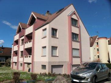 Beau duplex 5 pièces avec 120 m2 au sol (84 m2 carrez) à Reichstett Dans un immeuble bien entretenu et au calme, construit en 1982  Situé au dernier étage de l'immeuble, le premier niveau de ce duplex comprend : - un séjour de 23 m2 avec accès terrasse  - une cuisine équipée - 2 chambres de 17m2 et 13m2 - la salle de bain - une buanderie  Le second niveau comprend - un dégagement servant de bureau - la 3em chambre de 12m2  Un garage double et une cave complètent l'équipement de cet appartement  Honor. 4,20% inclus. Copropriété de 6 lots principaux. Montant moyen mensuel de la quote-part du budget prévisionnel à la charge du vendeur pour les dépenses courantes : 100 euros