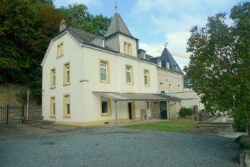 SOUS COMPROMIS! Belle maison de ville située sur un terrain de 7a53 avec une belle vue sur le quartier de Pfaffenthal.  La maison dispose de : Sous-sol : Cave voutée et chaufferie  Rez-de-chaussée : Hall d'entrée, grand living/salle à manger avec feu ouvert, cuisine équipée, 1 salle de bain + WC, 1 chambre, terrasse et beau jardin.  Etage 1 : 4 chambres et 1 salle de bain  Grenier aménagé : 4 chambres et 1 salle de douche.  Plusieurs emplacements de voitures se trouvent derrière la maison.  Travaux de rénovation à prévoir.