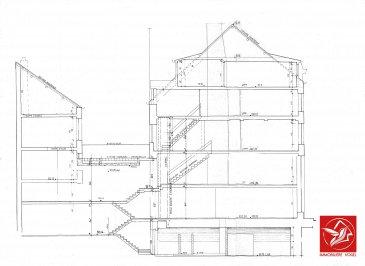Contactez : Correia Brice / +352.691.456.700 / brice@immovogel.lu  Immeuble de rapport à vendre en plein centre-ville de Luxembourg. (A coté de la Place d'Armes).  Immeuble de rapport se prête parfaitement pour l'exploitation d'un restaurant, un commerce ou à titre d'habitation. Il se répartit en 4 niveaux  (hors les combles et la cave).  Il dispose également d'un ascenseur privé  Il est actuellement exploité par un restaurant (mais peut être entièrement libre de tout locataire) et se subdivise comme suit :  Sous-sol : Cave et WC Clients  Au rez-de-chaussée : Salle de restaurant et accès à une petite terrasse  Au 1er étage : Salle de restaurant  Au 2ème étage : Cuisines et réserves  Au 3ème étage : Salle de restaurant privée  Au 4ème (combles) : Un studio aménagé  Surface brute totale : 350 m2 Contenance : 85ca  Documentation, renseignements et visites, contactez :  Immobilière Vogel Correia Brice +352.691.456.700 brice@immovogel.lu