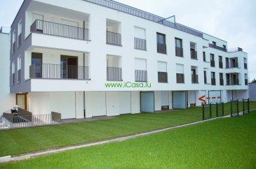 Appartement neuf de ± 54 m2, aux finitions luxueuses, très lumineux et situé au RDC d'une résidence, au 16, Cité Hudelen à Schifflange, Classe énergétique BBB .  L'appartement se compose : - d'une grande pièce à vivre (± 30m2) avec une cuisine équipée ouverte sur le living avec accès vers la terrasse (±9 m2) et le jardin privatif, - une grande chambre de ± 14m2 et sa salle de bains privative, lavabo, douche italienne et WC. - WC hôtes - vestiaire  Tout l'appartement est équipé : de luminaires, de stores électriques et d'un vidéo-parlophone, installation domotique partielle et un système d'alarme.  Un emplacement intérieur, une grande cave avec branchement électrique et une buanderie commune complètent ce bien.  Loyer : 1000€ Caution: 3 mois Charges : 100€ Frais d'agence : 1000€ HT Disponible à partir de janvier Animaux non admis.   Apartment of ± 54 m2, with luxurious finishes, very bright, located on the ground floor of a new residence, 16, Cité Hudelen in Schifflange , Energy Class BBB The apartment includes : - A large living room ( ± 30m2 ) with a open kitchen to the living room with access to the terrace (9 m2 ) and garden - A large room of ±14m2 with a bathroom with a sink, Italian shower and toilet. The whole apartment is equipped with: lighting, electric blinds and video - intercom, partial domotic system A car park, a large cellar and a common laundry room complete this apartment  Rent : 1000€ Deposit : 3 months Charges : 100 € Available in January No pets allowed.  Pour tous renseignements ou pour prendre rendez-vous pour une visite, veuillez nous contacter par téléphone au (+352) 621 43 10 04 – (+352) 26 19 00 86 ou par mail : info@icasa.lu  Découvrez tous nos biens sur www.icasa.lu. Souhaitez-vous louer ou vendre votre bien, profitez de notre service de qualité. Estimation rapide et gratuite.  Agence iCasa – Bertrange BELACCHI Michel