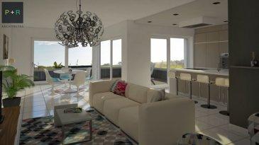 OFFRE EXCEPTIONNELLE VALABLE JUSQU'AU 31 NOVEMBRE 2016 : FRAIS DE NOTAIRE OFFERTS !   NOUVEAU A HELLANGE. Prochainement, réalisation d'un complexe de 2 immeubles résidentiels situé à l'extrême Sud de Luxembourg, commune de Frisange.  Les immeubles projetés seront dotés d'une architecture moderne, chaque appartement disposera d'une terrasse orientée plein Sud et d'un jardin privé de +/- 4 ares.  Je m'appelle