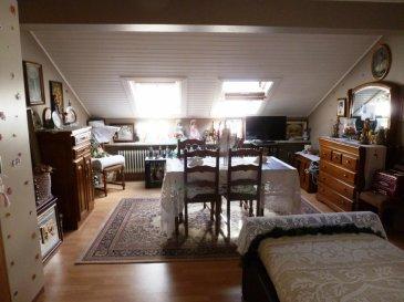 AFFAIRE À SAISIR!!!! Bel appartement situé au centre de Diekirch dans une petite résidence à 3 appartements avec une superficie de +/-55m2 au dernier étage. Comprend un hall d'entrée, un salon/salle à manger, une cuisine équipée, 1 chambre à coucher, une salle de bain et une cave.