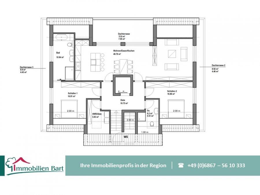 acheter penthouse 3 pièces 138 m² perl photo 4