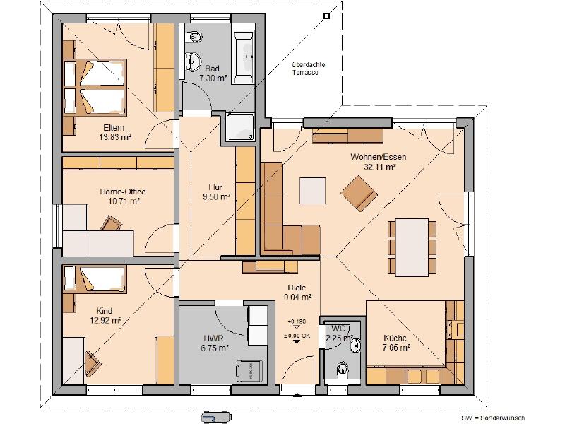 acheter maison 4 pièces 112 m² zemmer photo 3