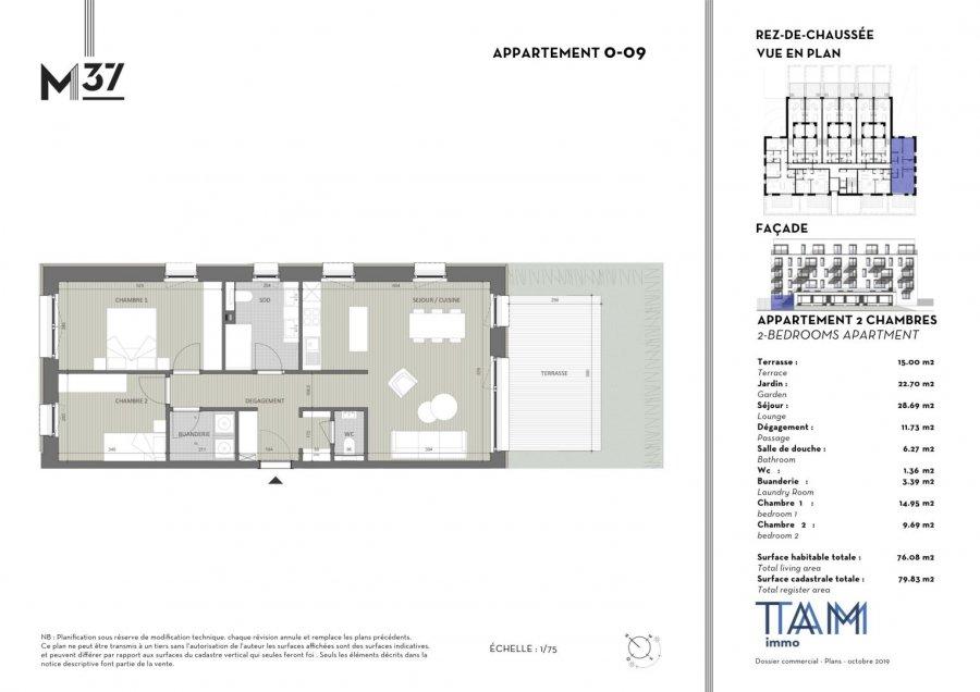 wohnung kaufen 2 schlafzimmer 76.08 m² luxembourg foto 2