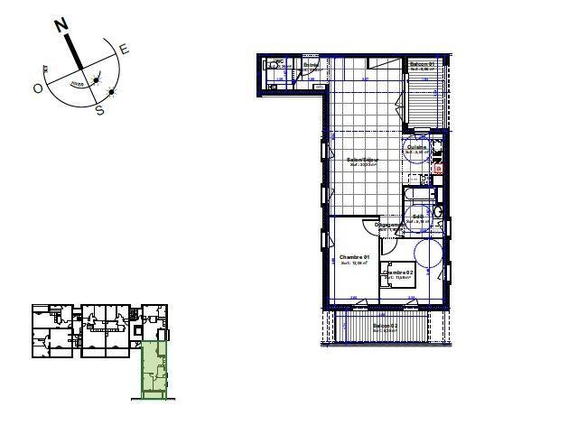 acheter appartement 3 pièces 73.13 m² manom photo 3