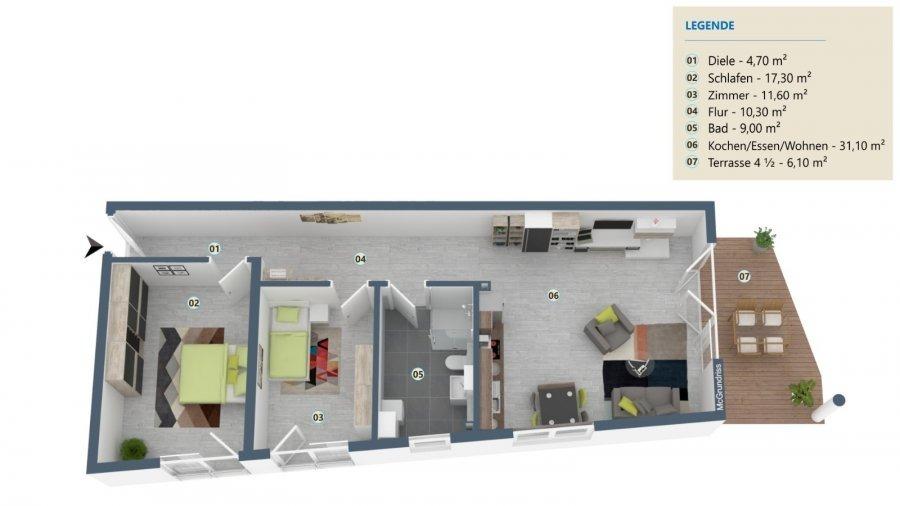 acheter appartement 3 pièces 90.1 m² palzem photo 2