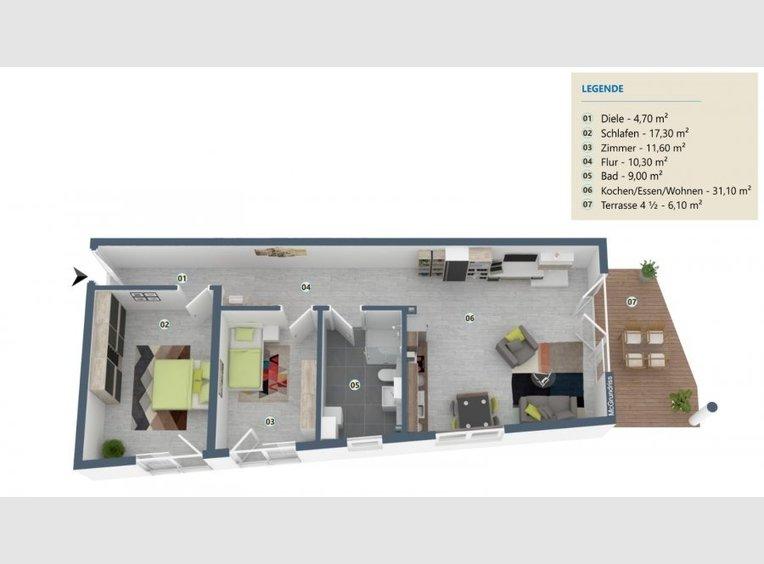 Appartement à vendre 3 Pièces à Palzem (DE) - Réf. 7121152