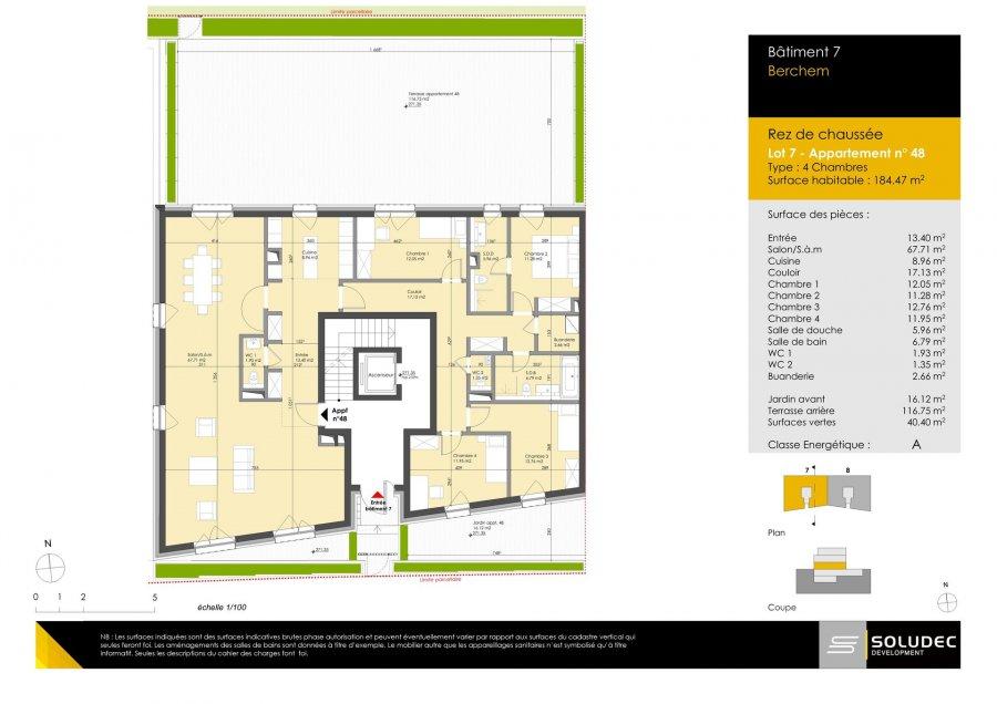 wohnung kaufen 4 schlafzimmer 184.47 m² berchem foto 1
