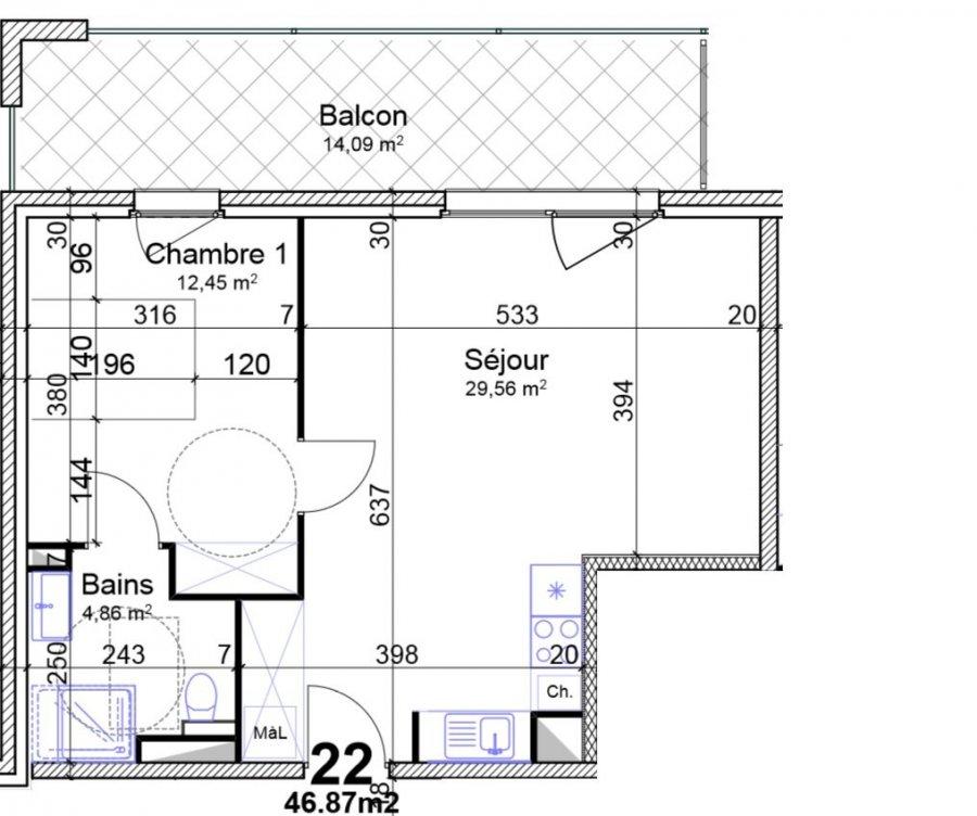 acheter appartement 2 pièces 46.87 m² yutz photo 4