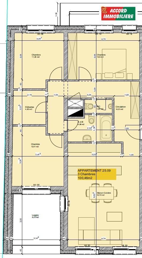 acheter appartement 3 chambres 100 m² rodange photo 2