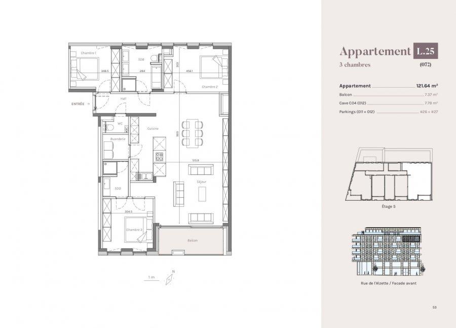 acheter appartement 3 chambres 121.64 m² esch-sur-alzette photo 1