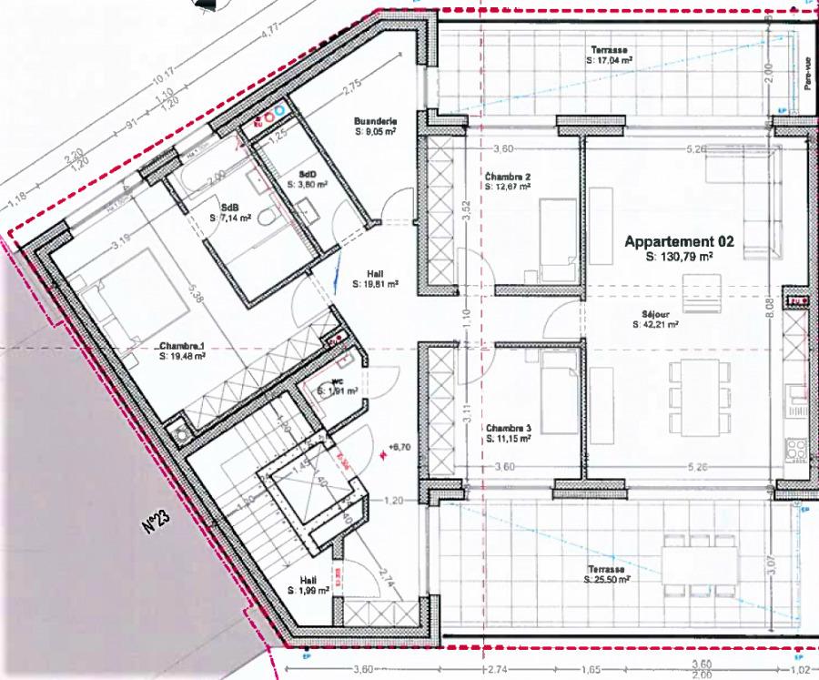 wohnung kaufen 3 schlafzimmer 130 m² bascharage foto 3