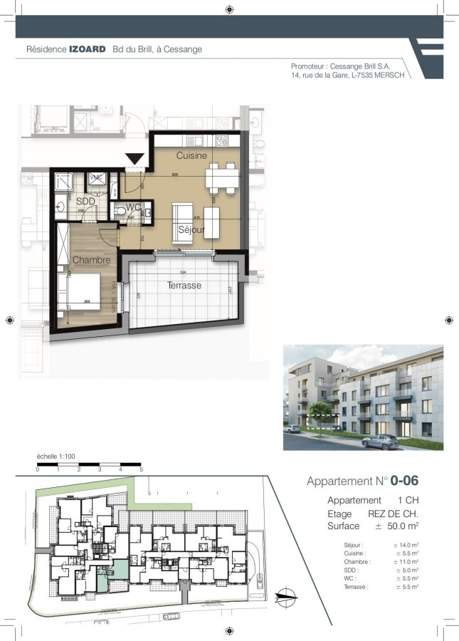 apartment for buy 1 bedroom 50.2 m² luxembourg photo 1