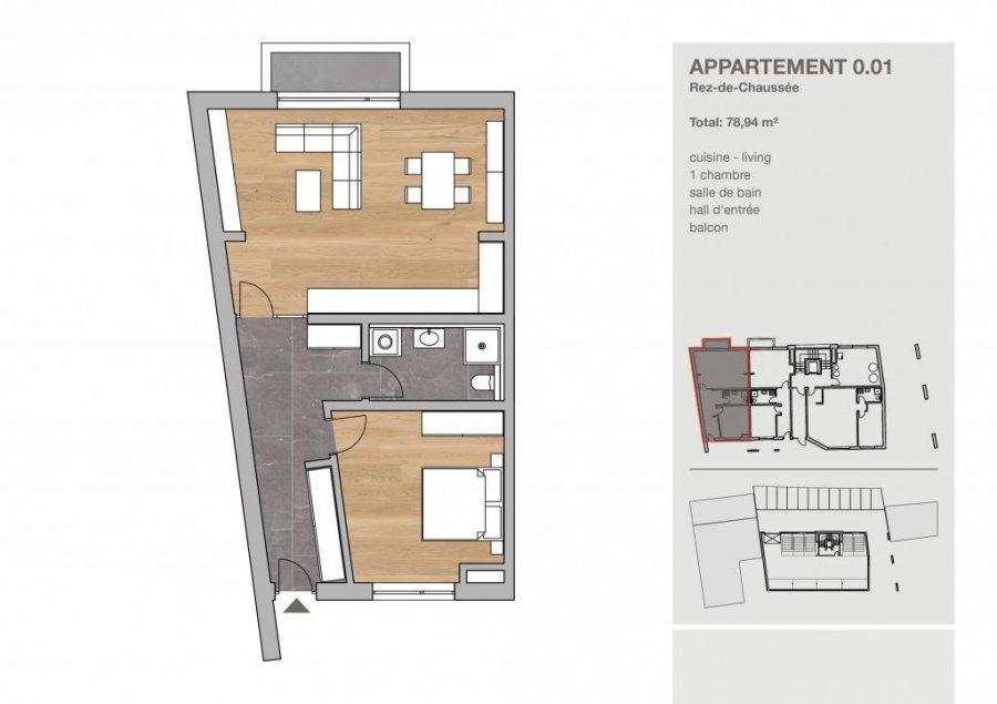 acheter appartement 1 chambre 78.94 m² clervaux photo 4