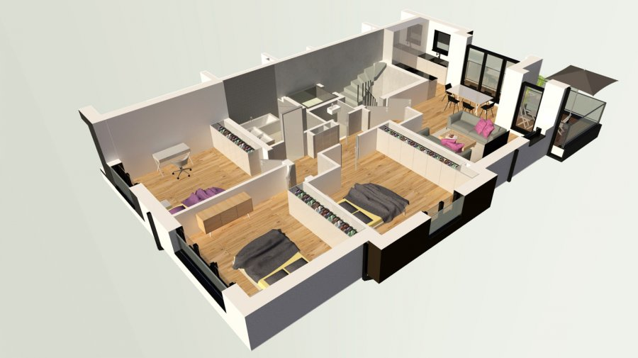 louer appartement 3 chambres 107 m² dudelange photo 1
