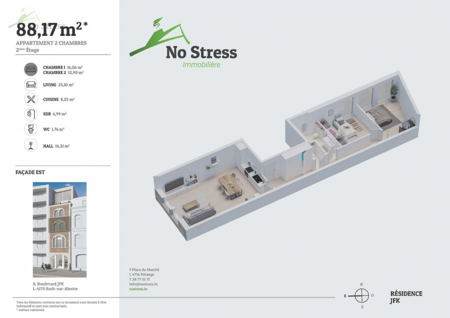 acheter appartement 2 chambres 89 m² esch-sur-alzette photo 3
