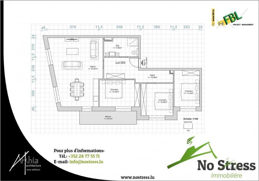 acheter appartement 3 chambres 107.25 m² rodange photo 3
