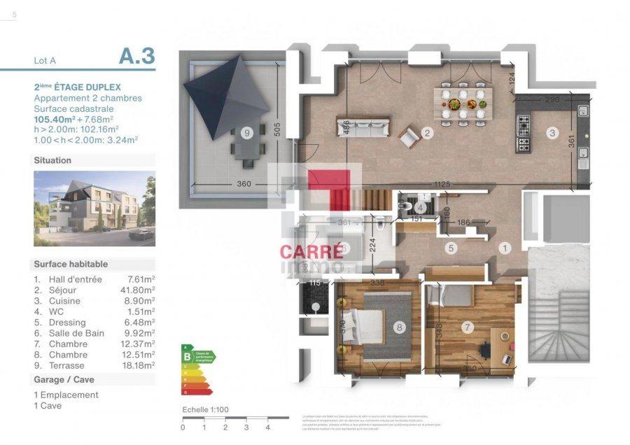 duplex for buy 2 bedrooms 113 m² luxembourg photo 3