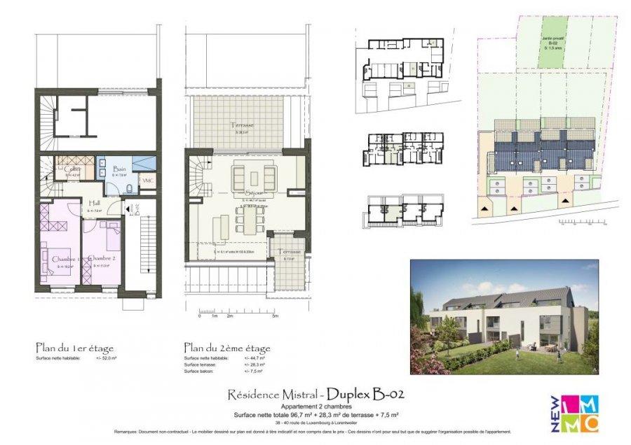 acheter duplex 2 chambres 96.89 m² lorentzweiler photo 7