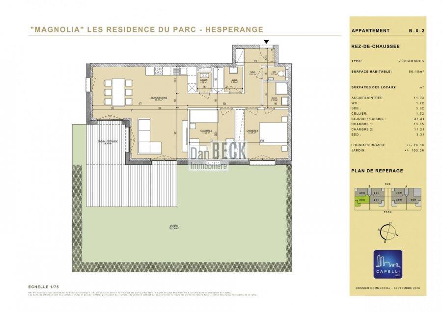 apartment for buy 2 bedrooms 86.15 m² hesperange photo 2