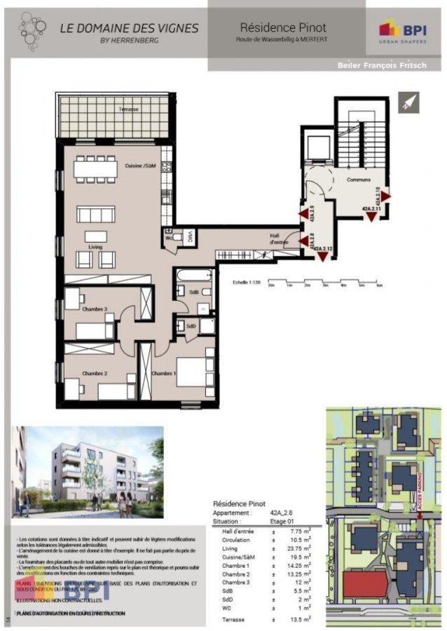acheter appartement 3 chambres 116 m² mertert photo 2