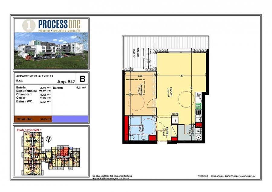 acheter appartement 2 pièces 51.65 m² amnéville photo 1