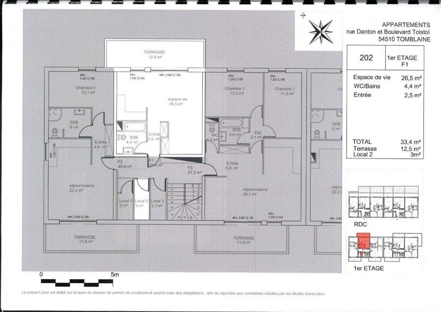acheter appartement 1 pièce 33.4 m² tomblaine photo 2