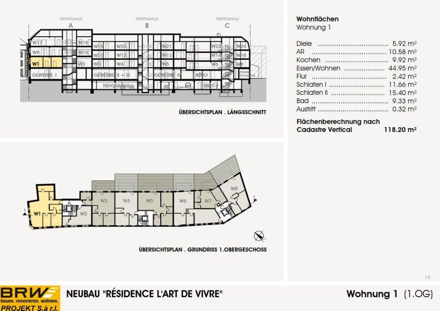 acheter appartement 2 chambres 117.87 m² echternach photo 3