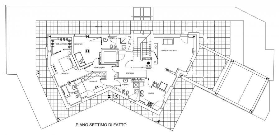 Penthouse à vendre 3 chambres à Milano