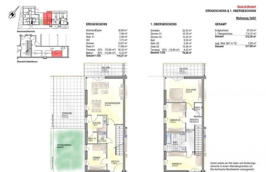 acheter duplex 4 chambres 212.3 m² remich photo 2