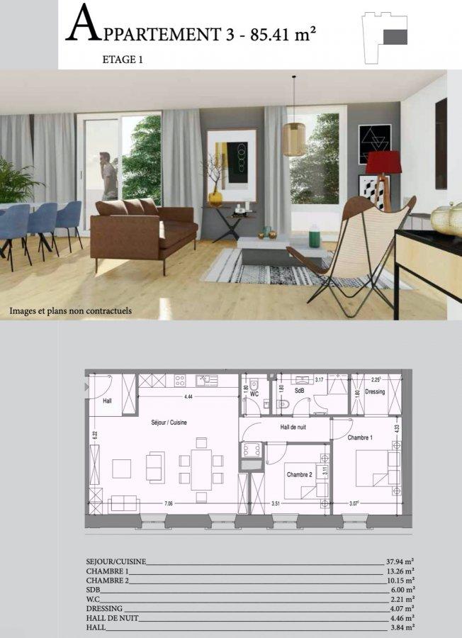 acheter appartement 2 chambres 85.41 m² mondercange photo 2