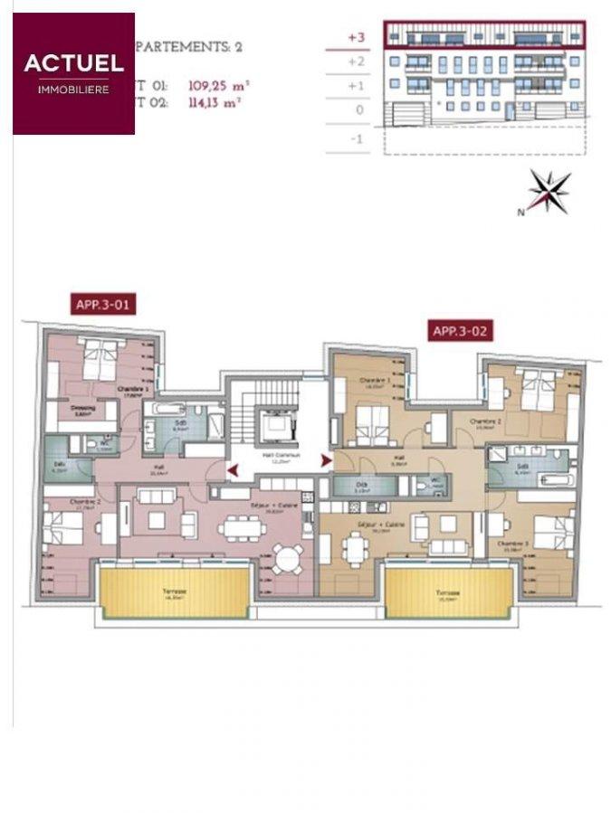 acheter appartement 3 chambres 129.3 m² rodange photo 3