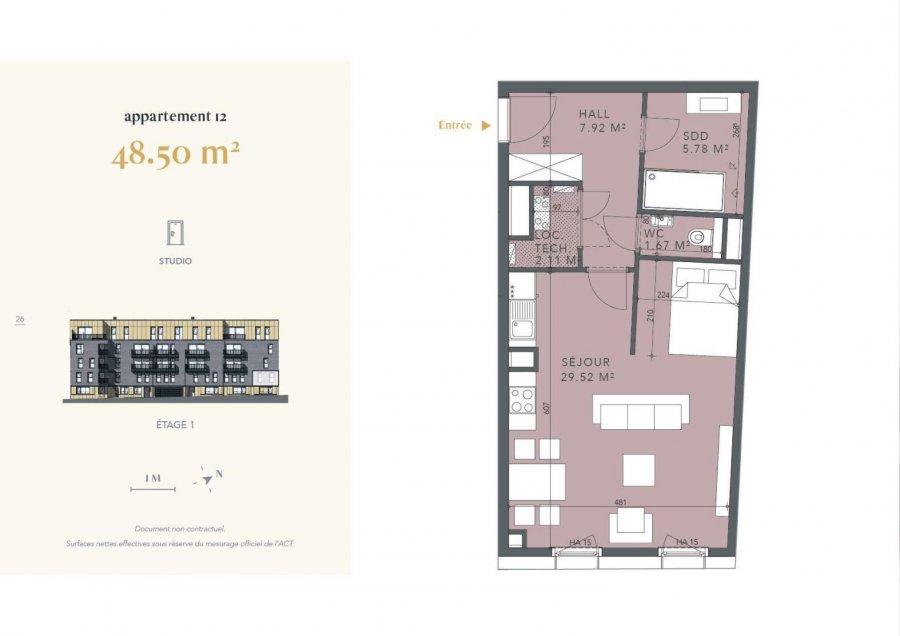 acheter studio 1 chambre 48.5 m² luxembourg photo 4